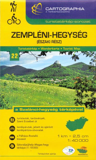 - Zempléni-hegység (északi rész) turistatérkép - 1:40 000