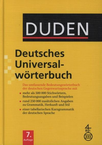- Duden Deutsches Universalwörterbuch