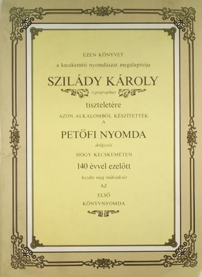 Tóth Sándor  (Szerk.) - Szilády Károly emlékkönyv