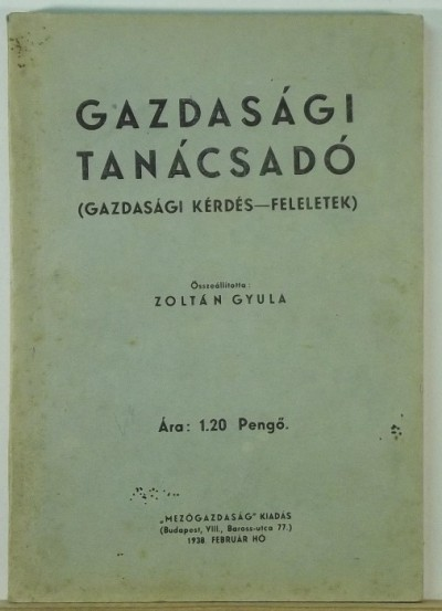 Zoltán Gyula - Gazdasági tanácsadó