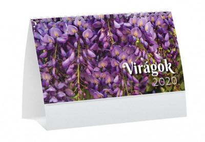 - Virágok asztali naptár - 2020