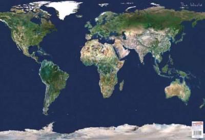 - Föld űrtérkép - Könyöklő