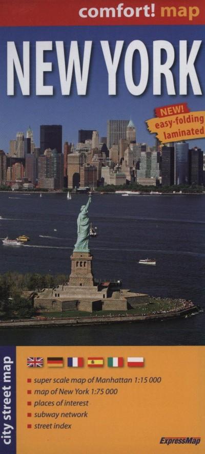 - New York City Street Map  1:15000, 1:75000
