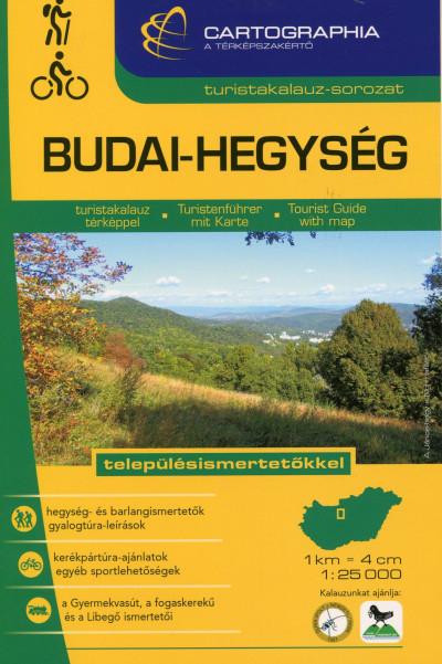 """Kovács Attila Gyula  (Szerk.) - Szigeti Borbála  (Szerk.) - BUDAI-HEGYSÉG TURISTAKALAUZ 1:25 000 """"SC"""""""