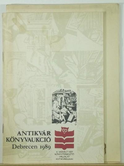 - Antikvár könyvaukció
