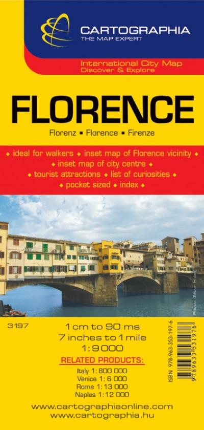 """- Florence várostérkép 1:9000 """"SC"""""""