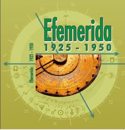 - Efemerida 1925-1950