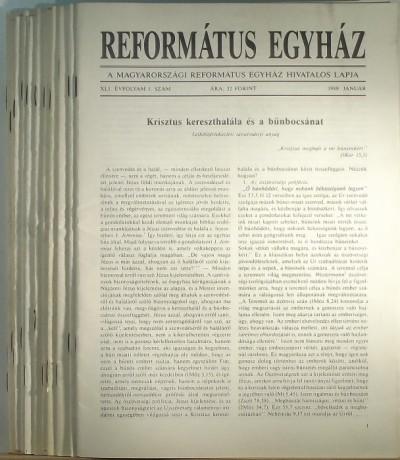 Dusicza Ferenc  (Szerk.) - Református Egyház XLI. évfolyam 1989 / 1-12.
