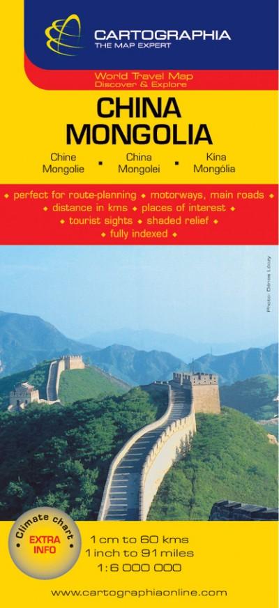 """- Kína, Mongólia térkép 1:6 000 000 """"SC"""""""