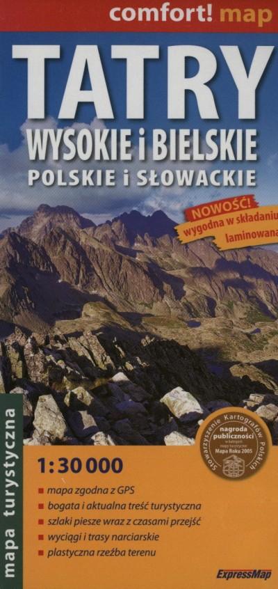 - Tatry Wysokie i Bielskie - Polskie i Slowackie térkép