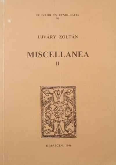 Újváry Zoltán - Miscellanea II.