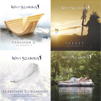 - Kövi Szabolcs négy 2019-es CD újdonsága ünnepi csomagolásban (fehér organza tasakban)