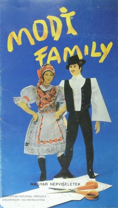 - Modi Family kivágó könyv
