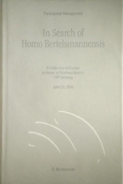 Volker Von Courbiére  (Szerk.) - Eugen Von Keller  (Szerk.) - In Search of Homo Bertelsmannensis -