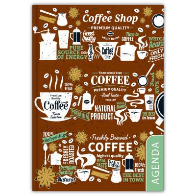 - Dayliner agenda Colors A5 heti - Coffee 2020