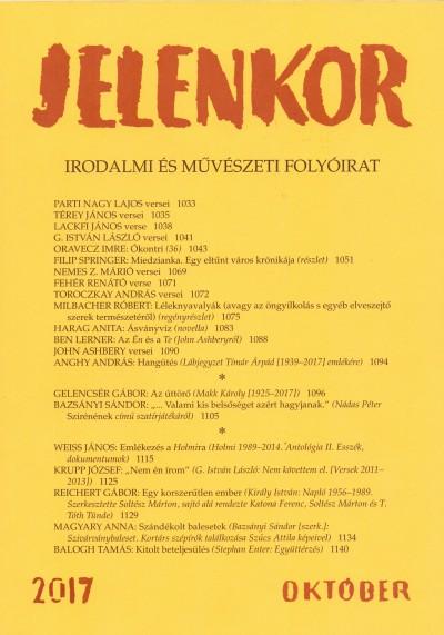 Ágoston Zoltán  (Szerk.) - Jelenkor - Irodalmi és művészeti folyóirat - 2017. október