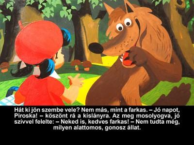 Grimm Testvérek - Piroska és a farkas - Diafilm