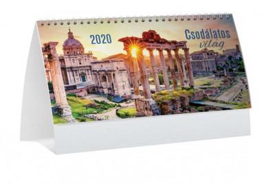 - Csodálatos világ álló képes asztali naptár - 2020