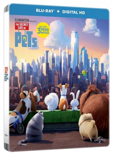 Yarrow Cheney - Chris Renaud - A kis kedvencek titkos élete - Steelbook - Blu-ray + 3D Blu-ray
