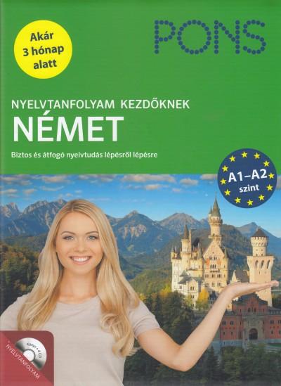NYELVTANFOLYAM KEZDŐKNEK - NÉMET - KÖNYV+4CD (ÚJ!)