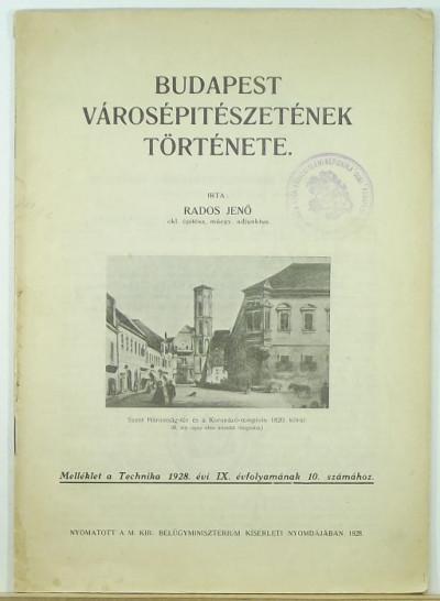 Rados Jenő - Budapest Városépítészetének története