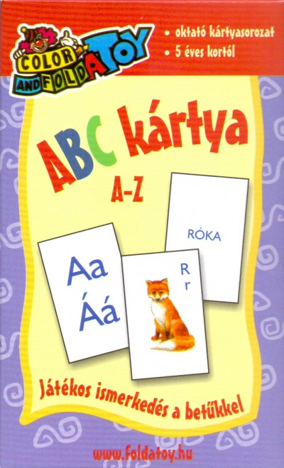 - ABC kártya  A-Z