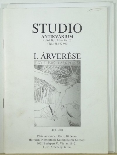- Studio Antikvárium I. árverése
