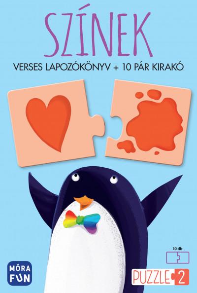 - Színek - Verses lapozókönyv + 10 pár kirakó