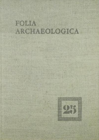 Fülep Ferenc  (Szerk.) - Folia Archaeologica XXV.