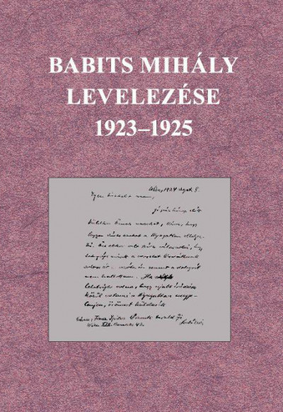 - Babits Mihály levelezése 1923-1925