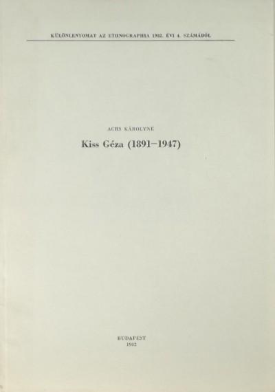 Achs Károlyné - Kiss Géza (1891-1947)