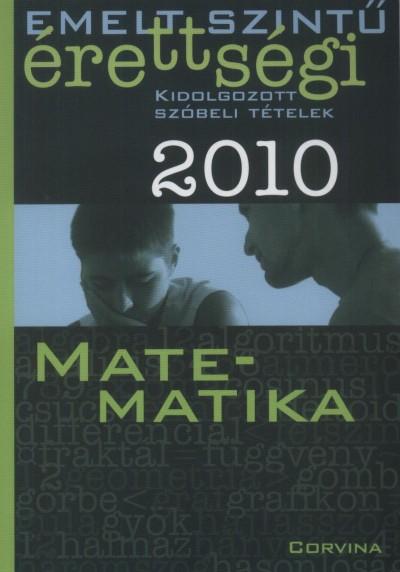 Dr. Korányi Erzsébet - Matematika - Szóbeli tételek 2010