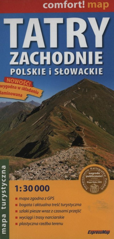 - TATRY ZACHODNIE POLSKIE I SLOWACKIE 1:30 000
