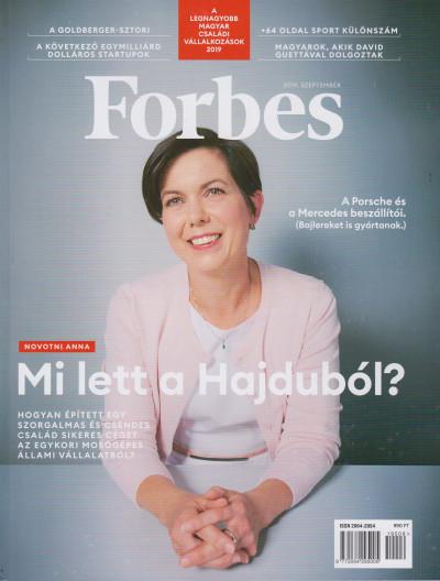 - Forbes magazin - 2019. szeptember