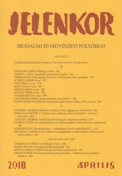 - Jelenkor - Irodalmi és művészeti folyóirat - 2018. április