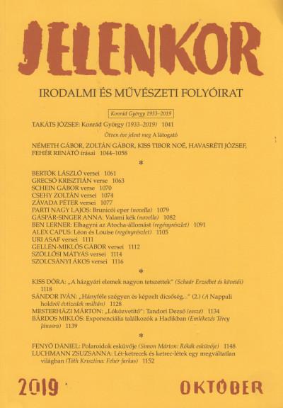 - Jelenkor - Irodalmi és művészeti folyóirat - 2019. október