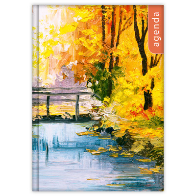 - Dayliner agenda Colors A5 heti - Akvarell 2020