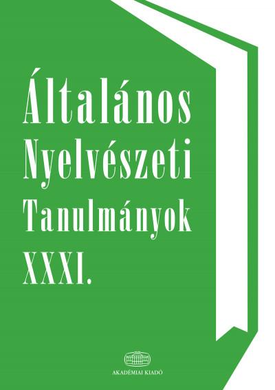 Kenesei István - Általános nyelvészeti tanulmányok XXXI.