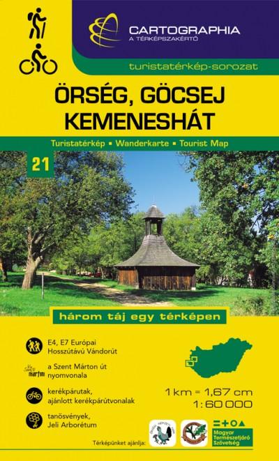 - Őrség, Göcsej, Kemeneshát turistatérkép 1:60 000