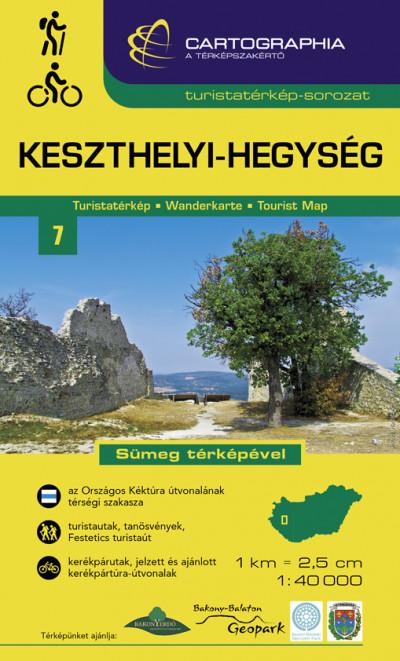 - Keszthelyi-hegység turistatérkép