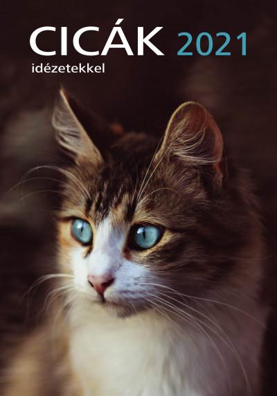 Erneszt Anna  (Szerk.) - Cicák naptár 23x33 cm - 2021
