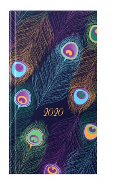 - Pávaszem metál - álló zsebnaptár - 2020